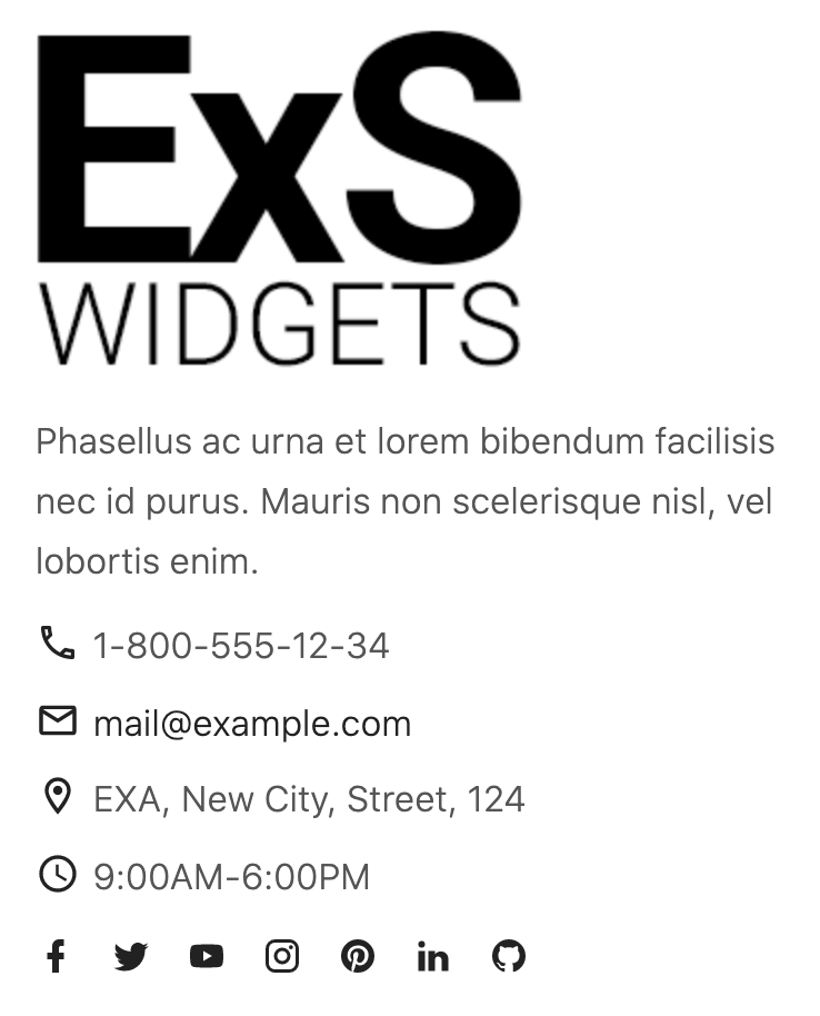 ExS meta widget front end styles