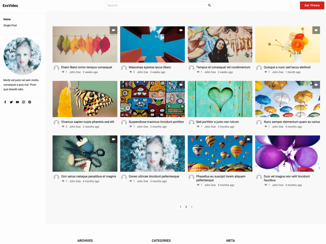 ExS Video WordPress theme is released