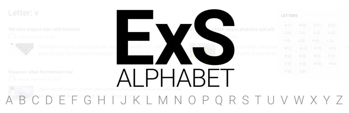 ExS Alphabet WordPress plugin now available