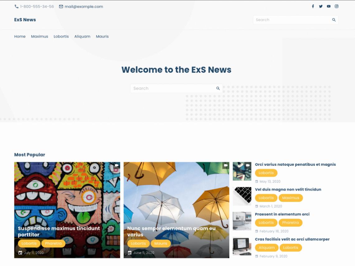 Meet ExS News child theme – fastest WordPress theme for news and blog sites